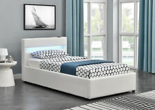 Harmin LED OTTOMAN BLUETOOTH Music Bed - White 3ft Single Size