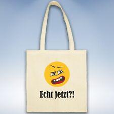 Emoji Smiley Jutebeutel Beutel Shopper Einkaufstasche Umhängebeutel bedruckt