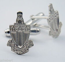 Alpha Tau Omega, ΑΤΩ, Crest Cufflinks .925 Sterling Silver By McCartney
