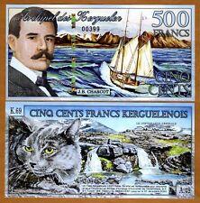 Kerguelen Island 500 Francs, 2011, POLYMER, UNC > NEW