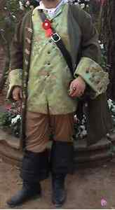 Custom Made 2pc.Renaissance Pirate Jack Sparrow frock coat vest waistcoat LARP