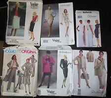 Lot 6 Designer Vogue Butterick Patterns SZ 8 to 16 most 12 Oscar de la Renta