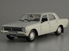 "GAZ-24-10 ""Volga"" Gray Soviet Sedan USSR 1985 Year 1/43 Scale Diecast Model Car"