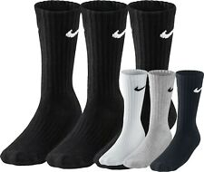 Nike Socks Crew Cushioned Long Cotton Men Women Black White Grey Sport Unisex