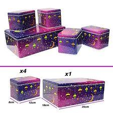 Eid Mubarak Ramadan Tins Biscuit & Cake Storage Bakeware Tin Gift Set - Purple
