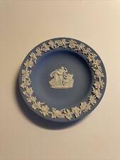 Vintage Wedgewood Dish with Mythological Scene Angels Blue Jasperware Ring Tray