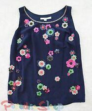 EUC, **Boden** Womens, Lilian SILK Embellished Top (RV: $138). Size 6