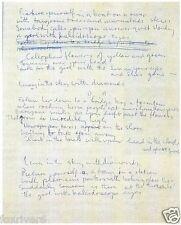 BEATLES Paul McCartney Handwritten Lyrics Lucy In The Sky With Diamonds preprint