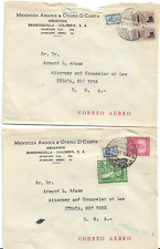 Bulk Lot 21 Airmail Covers Barranquilla Colombia to Ithaca New York 1953 to 1955