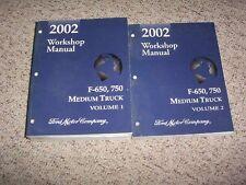 2002 Ford F650 F750 Factory Workshop Shop Service Repair Manual Set