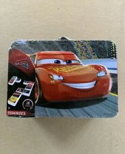 Dominos Game DISNEY CARS Metal Lunch Box 28 Tiles Educational Learning New Seal