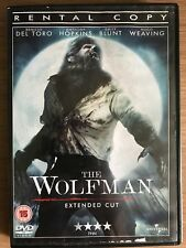 Benicio del Toro Emily Blunt WOLFMAN ~ 2010 Werewolf Horror UK Rental DVD