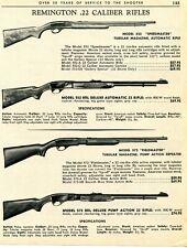 1967 Print Ad of Remington Model 522 Speedmaster & 572 Fieldmaster Tubular Rifle