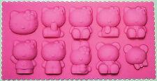 Hello Kitty Silicone Mold Pan 10 Cavities - NEW