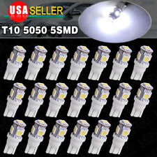 20PCS Cool White T10 Wedge 5050 5SMD LED 168 194 2825 license interior light