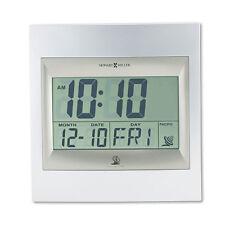 "Howard Miller TechTime II Radio-Controlled LCD Wall/Table Alarm Clock 8-3/4""W x"