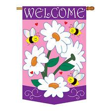 New listing Daisies - Applique Decorative House Flag - H104060-P2