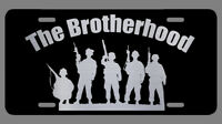 Military Soldier Laser Etched Metal License Plate Army Navy Marines Air Force