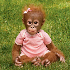 Ashton Drake Annabelle's Hugs Lifelike Baby Monkey Doll New