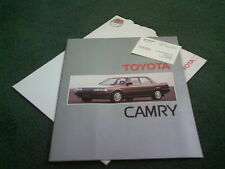 1987 TOYOTA CAMRY SALOON & ESTATE - UK BROCHURE + 1/87 PRICE LIST + F CROSS CARD
