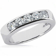 1.27 ct 5 Round Diamond Weddin Band Anniversary Ring .25 ct each G color VS/ SI