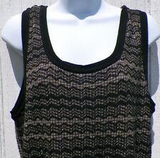 Size XL Calvin Klein Black Tan White Knit Vest Extra Large New with Tags Nice