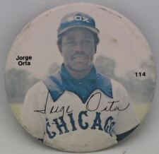 "Vintage #6 Jorge Orta 3"" Button Rare Find"