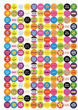 A4 Reward Sticker Sheet For Teachers Wow Perfect Fab Super Well Done 100+