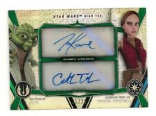 2017 STAR WARS HIGH TEK TOM KANE CATHERINE TABER AUTO #/10 YODA PADME #01/10