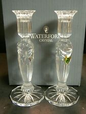 "Vintage Waterford Crystal Prentiss 8"" Candlesticks 40027984 In Org Box Excellent"