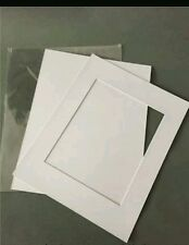 """8 x Professional Picture Framing Mat Boards 16x20"""" with A3 Window Mount Kit"""