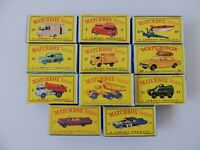 Matchbox Lesney / Lot 11 Empty Repro Box Car and Truck   style  D