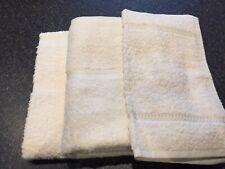 ASDA Cotton Soft Cream Hand Towel x 2 & Face Cloth NEW