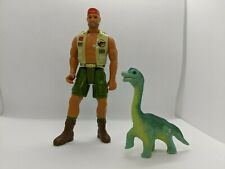 Jurassic Park 1994 Series 2 Harpoon Harrison with baby brachiosaurus