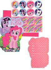 My Little Pony INVITATIONS (8)  Birthday Party Supplies Stationery Notes Invites
