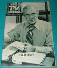 1971 TV WEEK GUIDE~FRANK MCGEE~SONNY & CHER~CHRIS GEORGE~JULIET MILLS~GLENN FORD