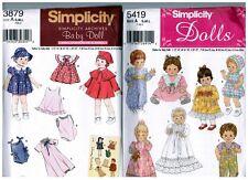 Simplicity 3879 5419 Small Medium Large BABY DOLL Dress Pattern s Vintage Uncut