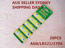 20pcs AG0/LR521/379A Button Cell Coin JAPAN STD Alkaline Battery 1.55V  Watches