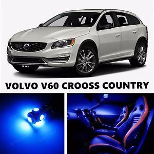 16pcs LED Blue Light Interior Package Kit for VOLVO V60 - V60 CRSS COUNTRY