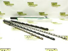 """LOT OF 4 NEW! COBALT 2MT EXTRA LENGTH TAPER SHANK DRILLS 7/16"""" TO 21/32"""" DIA"""