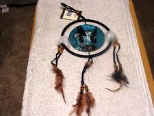 DREAMCATCHER INDIAN WITH A PICTURE OF AN EAGLE DEER WATERFALL (KIN) ( SMALL )
