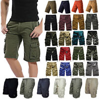 Men Combat Army Military Cargo Shorts Summer Casual Work Pockets Short Pant Camo