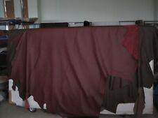 1 Lederhaut , Rindnappaleder, gedeckt dunkelrot ca. 4,0-4,3 qm,1,4-1,6 mm