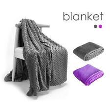 "Deluxe Minky Zippered Duvet Cover 60x80"" 48x72"" Soft Fleece Blanket"