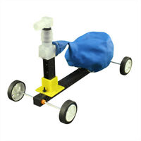 DIY Science Experiment Balloon Powered Trolley Recoil Car Model Educational Toys