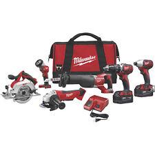 Milwaukee M18 Cordless Combo Kit 6 Tools,# 2696-26