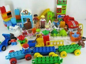 Big Lot Of Lego Duplo People & Farm Animals 95 Pieces