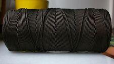 100 mètres de fil nylon MARRON tressé de 1mm Bracelet shamballa Collier AUTRE