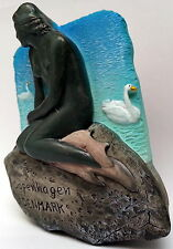 Little Mermaid Statue Copenhagen Denmark Danish 3D Fridge Magnet Refrigerator