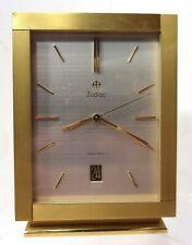 VTG 1967 Zodiac Electric Brass Clock Swiss Movement Swiss Made